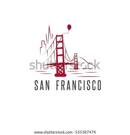Skyline San Francisco Vector Design Template Stock Vector