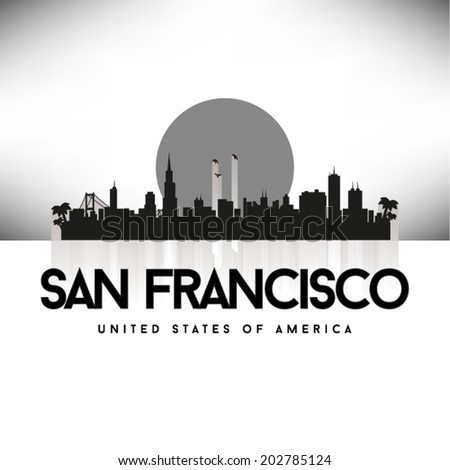 San Francisco United States of America skyline, vector illustration. - stock vector