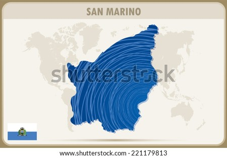 San Marino Map Graphic Design Vector Stock Vector 221179813 ...