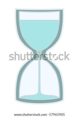 sand clock - stock vector