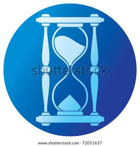 sand clock (hourglass) - stock vector