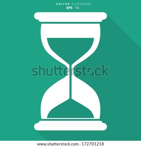 Sand clock icon. Glass timer symbol - stock vector