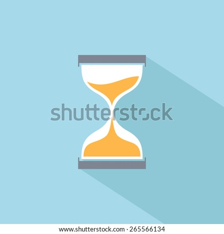 Sand clock vector flat icon - stock vector