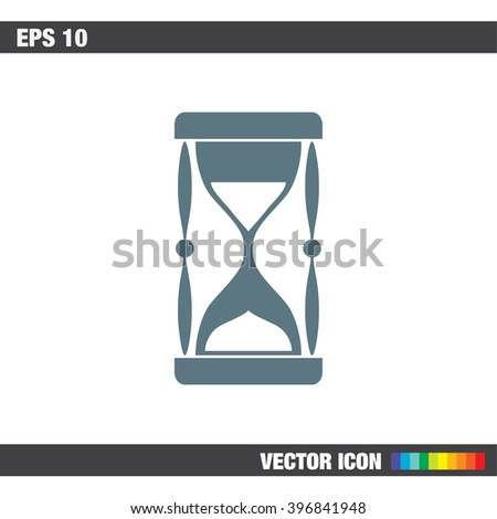 sand clock vector icon - stock vector