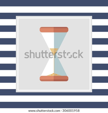 Sand glass icon - stock vector