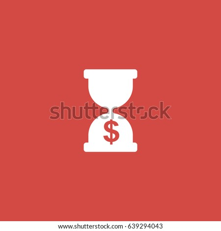 Sandglass icon  Sandglass Icon Sign Design Red Background Stock Vector 639294043 ...