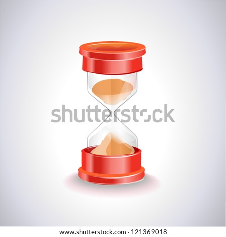 Sand-glass-watch - stock vector
