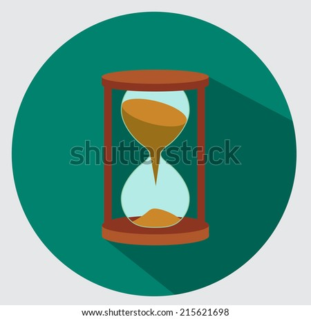 Sand hourglass icon - stock vector