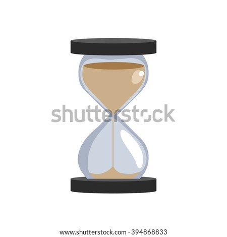 sand hourglass isolated on white background