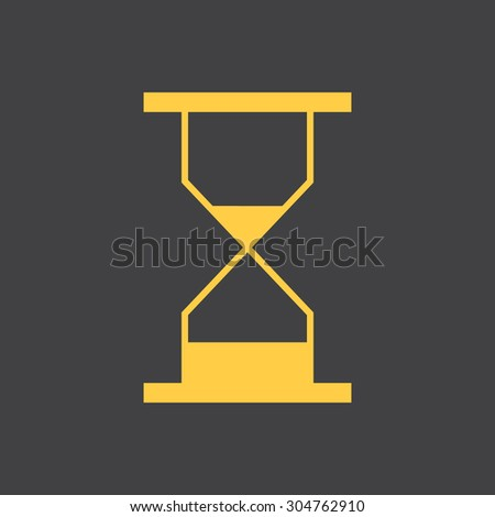 Sand hourglass, sand, clock flat simple style icon. Vector EPS8 - stock vector