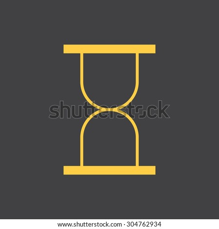 Sand hourglass,sand clock flat simple style icon. Vector EPS8 - stock vector