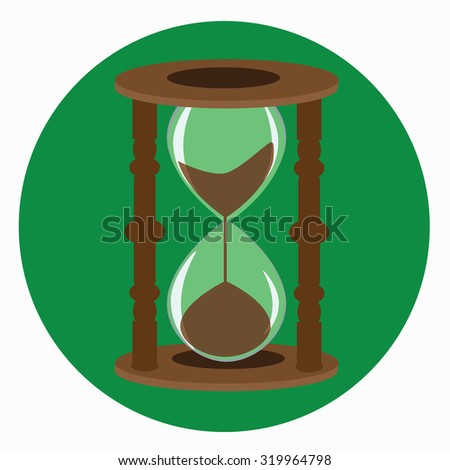 sand timer - stock vector