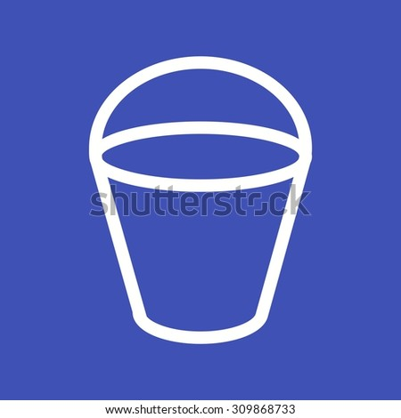 Sand, toy, bucket icon vector image.Can also be used for toy and games. Suitable for mobile apps, web apps and print media.