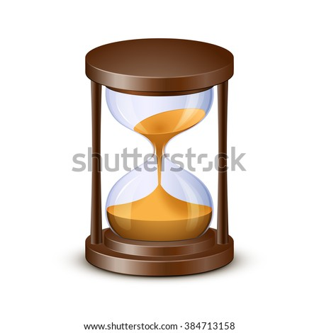Sand watch. Highly detailed vector illustration of hourglass - stock vector