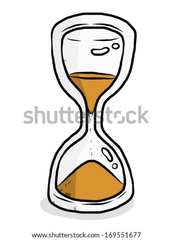 sandglass / cartoon vector and illustration, isolated on white background.
