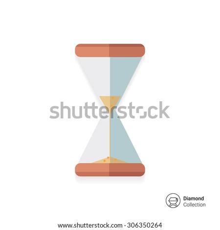 Sandglass icon - stock vector