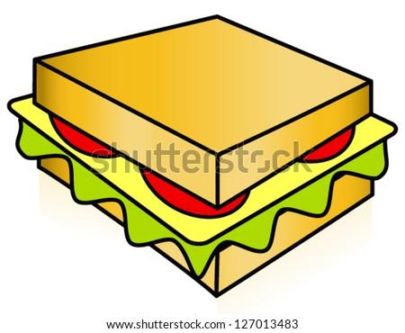 sandwich clipart stock photo photo vector illustration 127013483 rh shutterstock com sub sandwich clipart sandwich clip art free