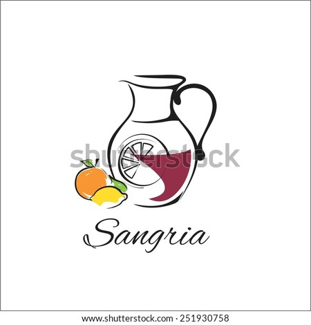 Sangria - stock vector