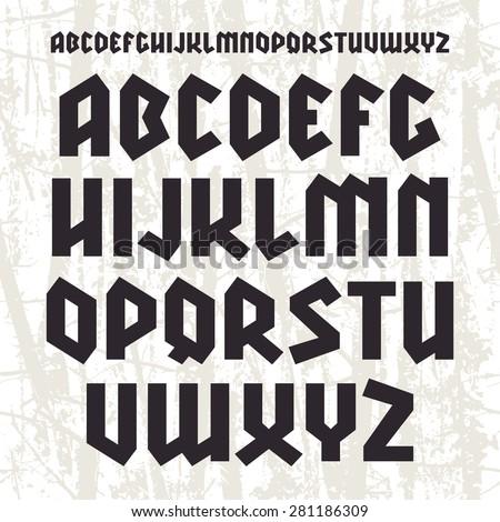 Sanserif Blackletter Font Black Print On Light Texture Background