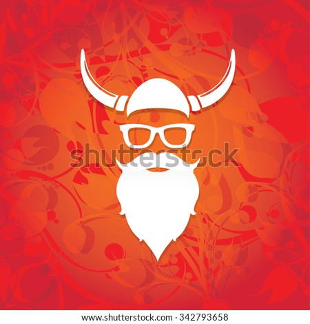 Santa beard vector .Christmas hipster poster for party or greeting card. . Santa Hipster Claus. vector merry christmas art design.  - stock vector