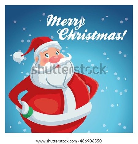 Santa cartoon of Christmas season design