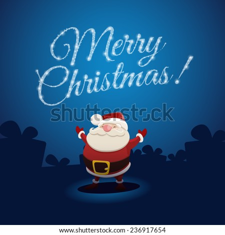 Santa Claus and Merry Christmas - stock vector