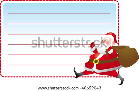 Santa Claus  Christmas stickers to personalize and put the name
