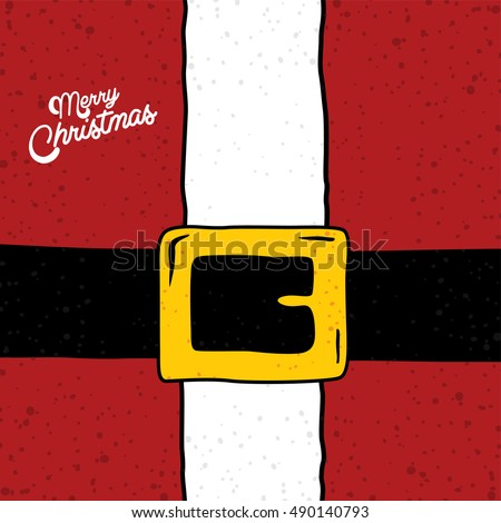 santa claus christmas suit holiday card vector art illustration