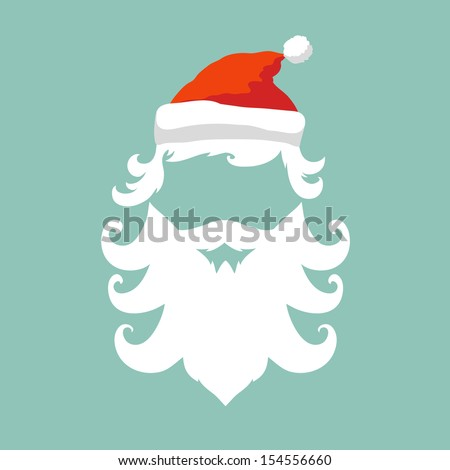 Santa Claus fashion silhouette hipster style, vector illustration