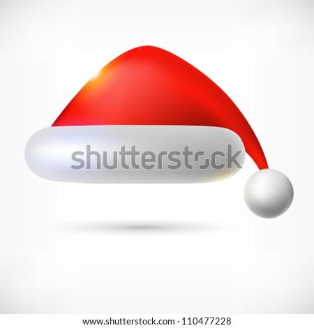 Santa Claus hat, vector. - stock vector