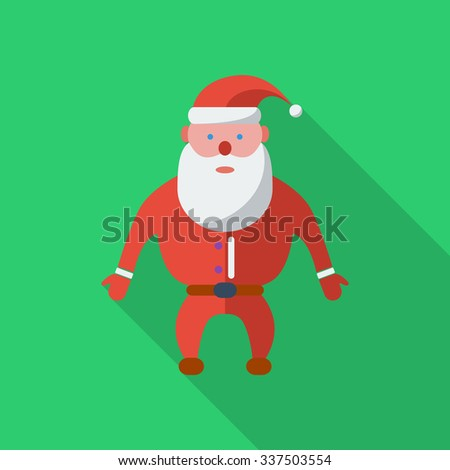 Santa Claus icon. Flat vector related icon with long shadow for web and mobile applications. It can be used as - logo, pictogram, icon, infographic element. Vector Illustration. - stock vector