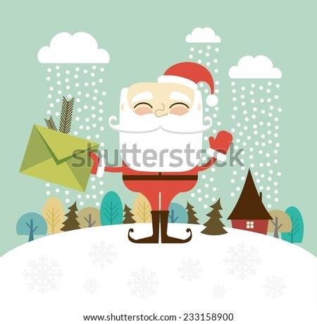 Santa Claus illustration - stock vector