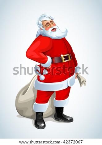 Santa Claus on white - stock vector