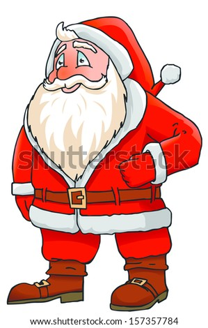 Santa Claus on white background - stock vector