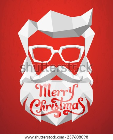 Santa Claus polygon background - stock vector