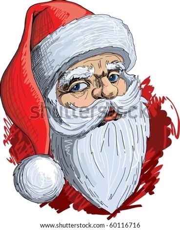 Santa Claus portrait. - stock vector