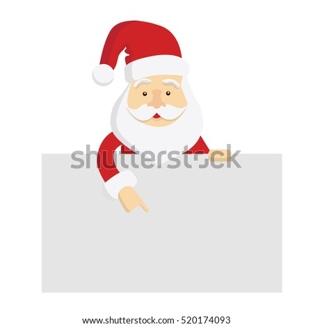 Santa Claus template. Isolated Santa with template space for text, decoration and others.