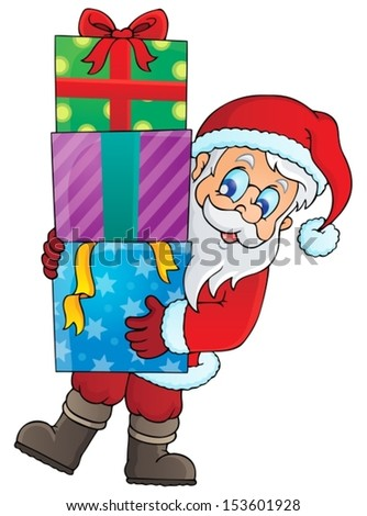 Santa Claus theme image 1 - eps10 vector illustration.