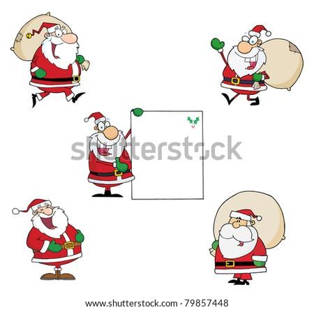 Santa Claus-Vector Collection - stock vector