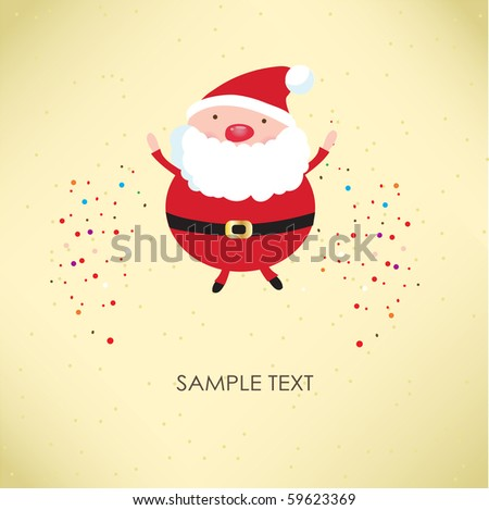 Santa Claus. Vector illustration for retro card - stock vector