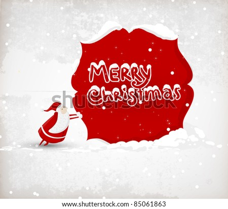Santa Claus. Vector illustration for retro christmas card - stock vector