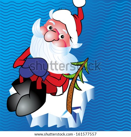 santa claus with ice floe
