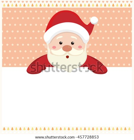 Santa claus with merry Christmas background