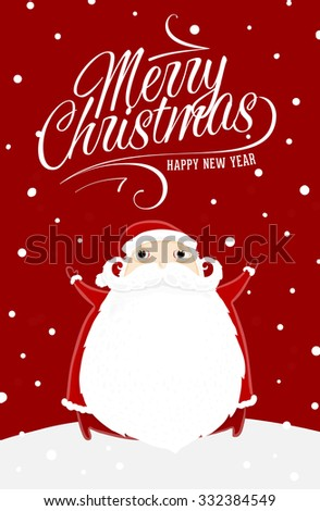 Santa claus merry christmas label holiday stock vector royalty free santa claus with merry christmas label for holiday invitations and greeting cards xmas poster m4hsunfo