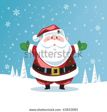 Santa Claus with open arms - stock vector