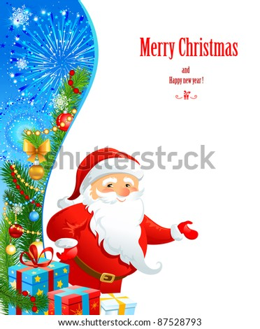 Santa Claus with space for text - stock vector
