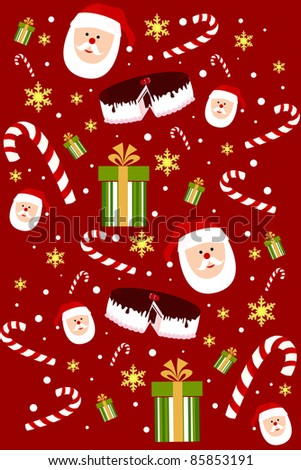 santa clause seamless vector - stock vector