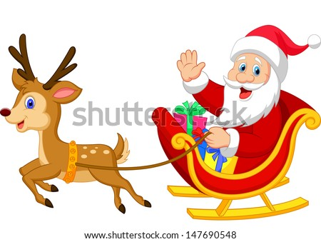 pictures of santa and his sleigh santa sledge stock photos royalty free images vectors 2297