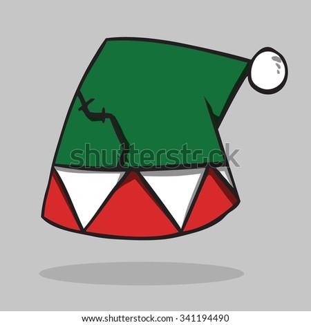 Santa hat, vector illustration. - stock vector