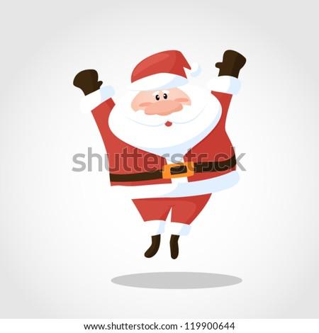 Santa jump - stock vector